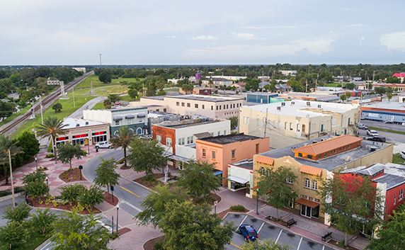 Aerial photo of downtown Haines City